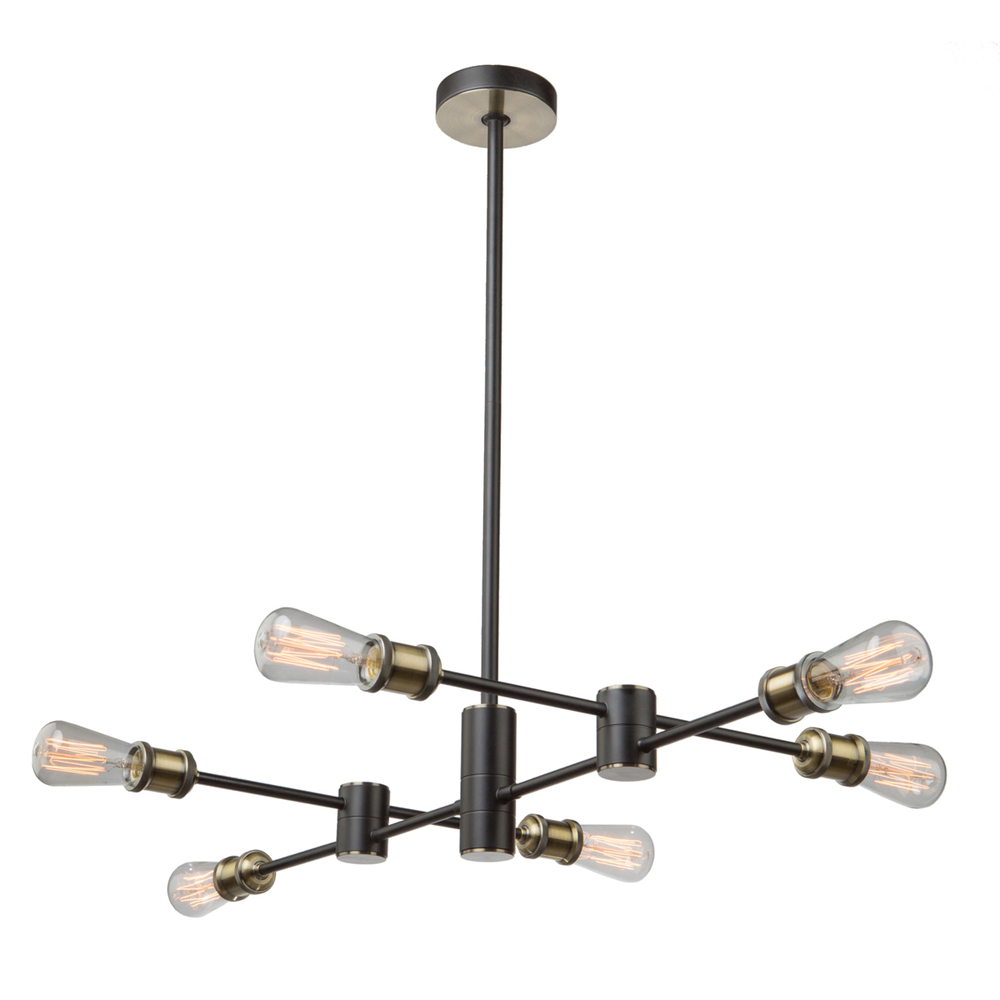 Tribeca Ac10786bk Chandelier Living Lighting