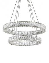 Kuzco Lighting Inc CH7832 - Two Tiered LED Chandelier with Exquisite Diamond Cut Clear Crystals
