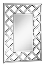 Elegant MR-4009 - Modern 28.5 in. Contemporary Mirror in Clear