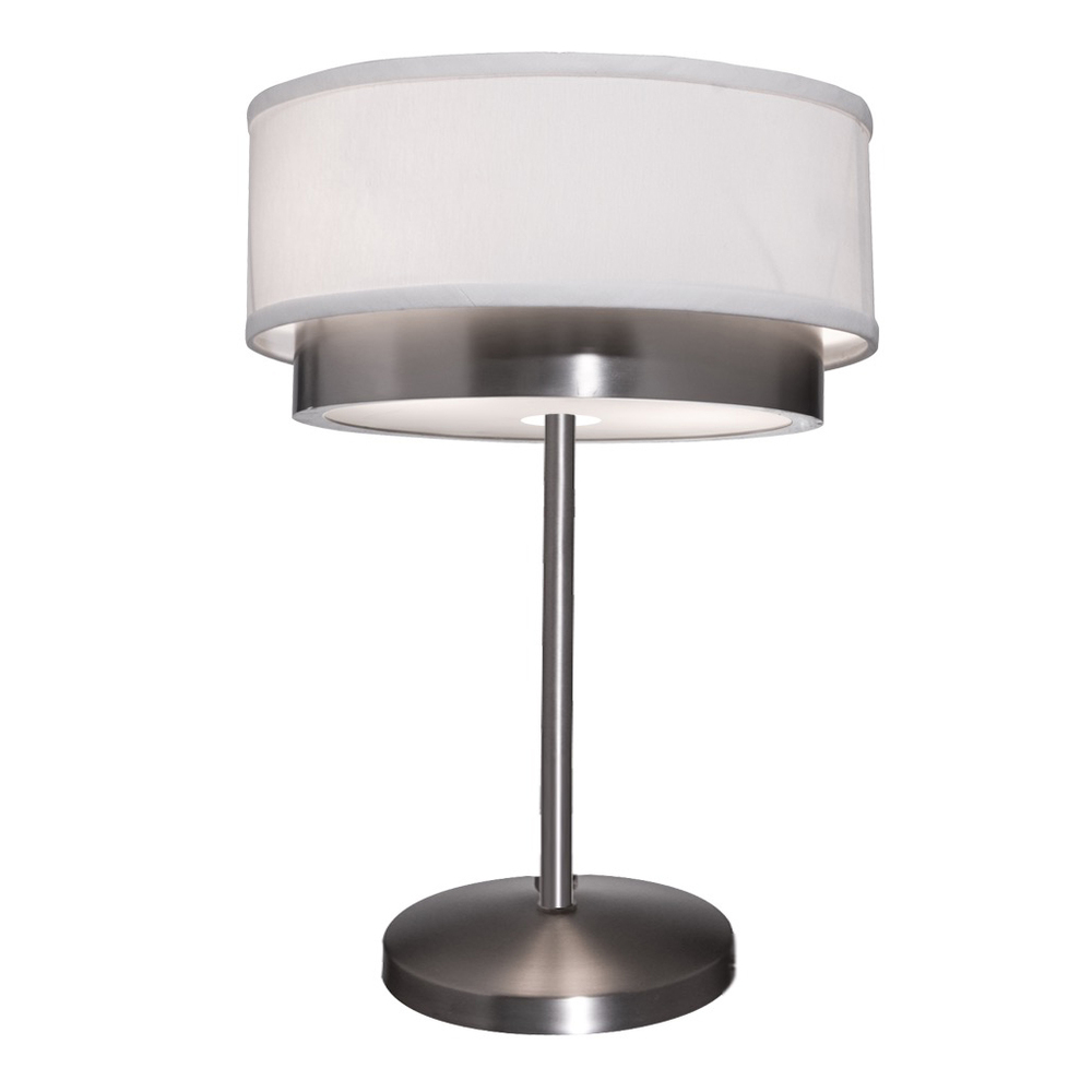 shade brushed nickel table lamp 6uk7t living lighting beaches. Black Bedroom Furniture Sets. Home Design Ideas
